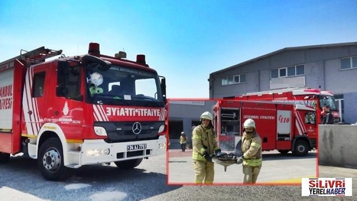 Silivri'de fabrikada yangın