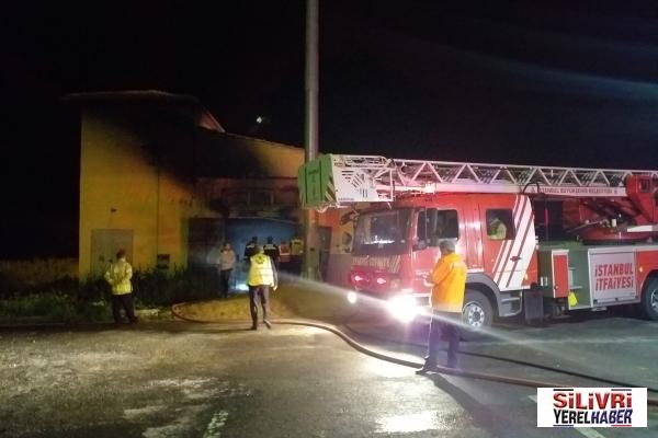 Silivri'de trafo patlaması