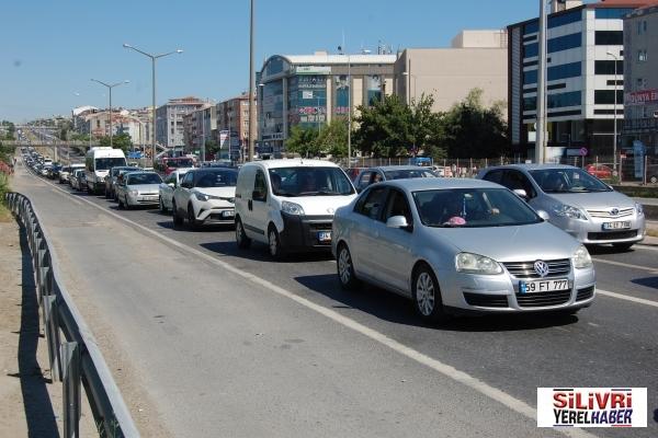Silivri'de bayram trafiği