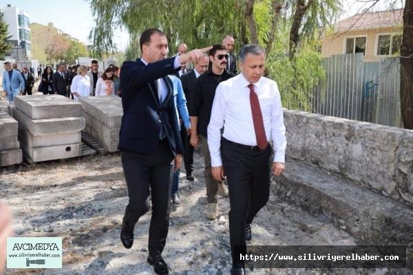 Vali Yerlikaya Mimar Sinan Köprüsü'nü inceledi