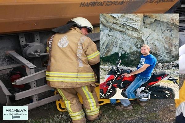 Hafriyat Kamyonu ile Motosiklet Çarpıştı: 1 Ölü