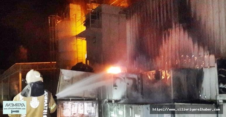 Silivri'de fabrika'da yangın