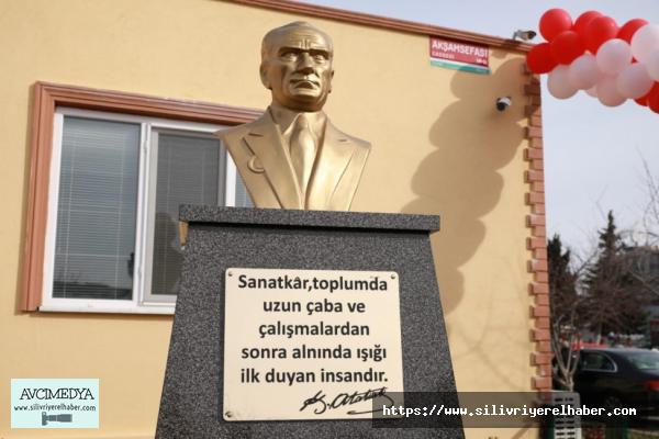 Başkan Yılmaz Atatürk büstü açılışına katıldı