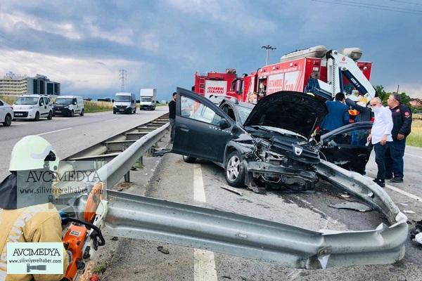 Silivri'de Trafik Kazası: 6 yaralı