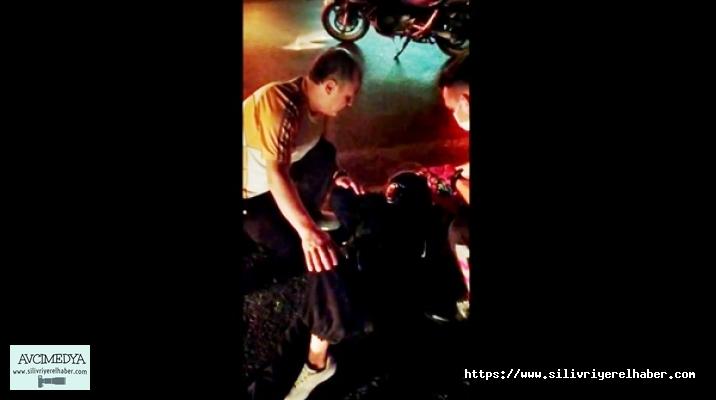 SİLİVRİ'de kamyon ile motosiklet çarpıştı: 1 yaralı