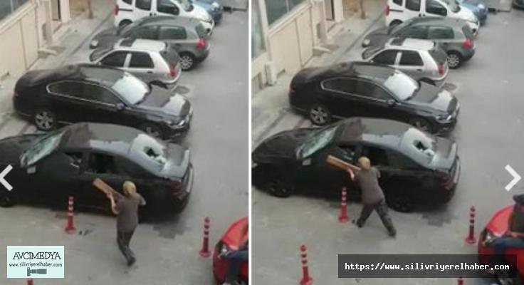 Yer: Silivri... Kavgalı olduğu  Ailenin otomobilini Parçaladılar