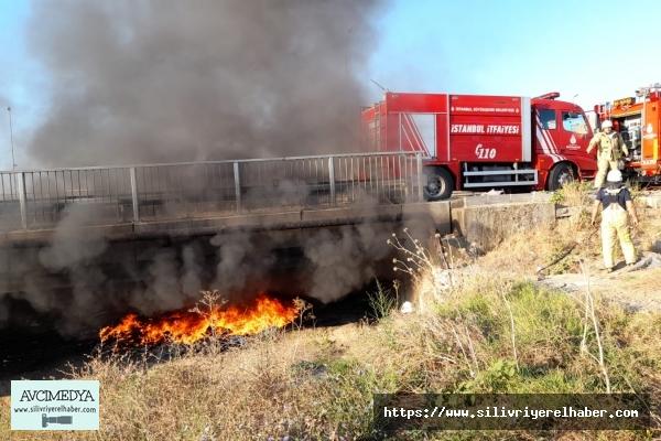 Silivri'de İki Ayrı Nokta'da Yangın Meydana Geldi