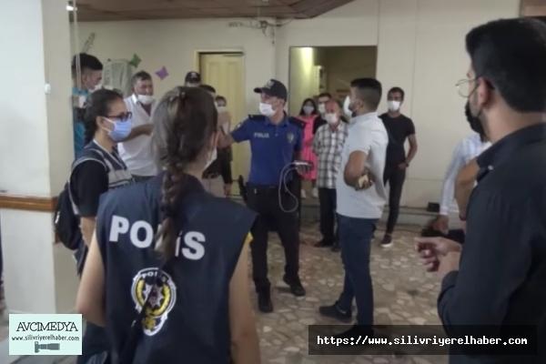 Silivri Polisin'den Düğüne Koronavirüs Baskını