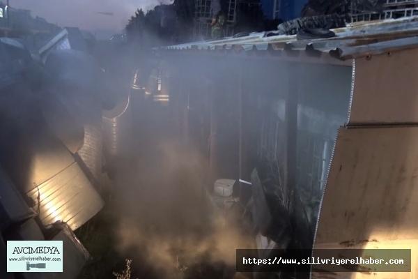 Son dakika... Silivri'de Fabrika Yangını
