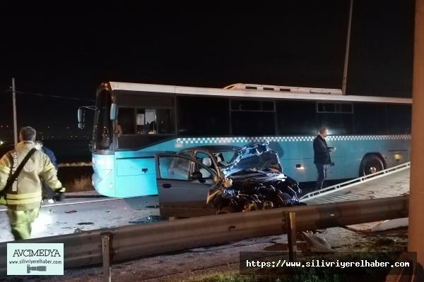Silivri'de Kısıtlama öncesinde Zincirleme Trafik kazası: 1 yaralı