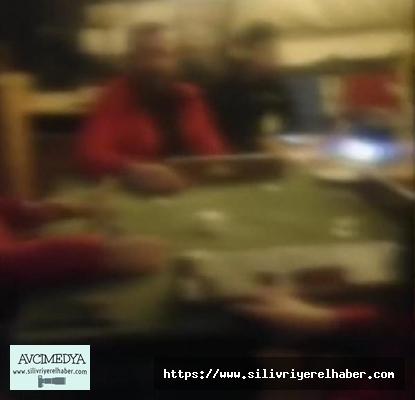 Silivri'de Polis ekiplerinden okey masasına operasyon