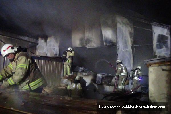 Silivri'de Kereste Fabrikasında Yangın