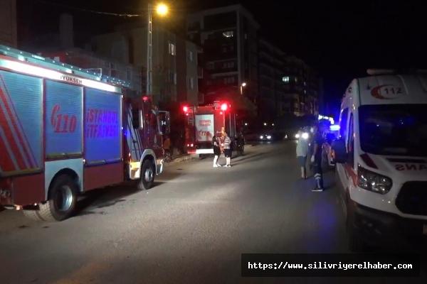 Silivri'de apartmanın elektrik trafosu patladı, bina sakinleri sokağa döküldü