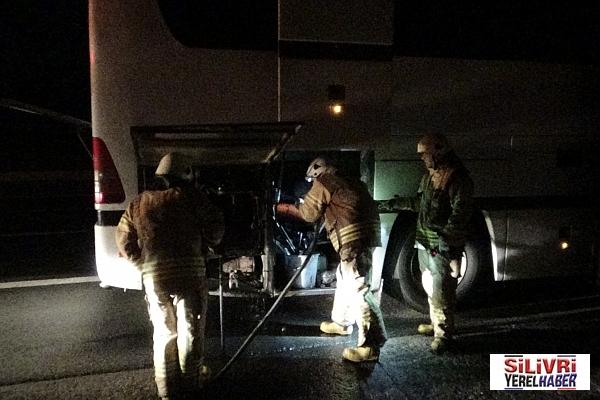Otobüsün Motoru yandı! Göçmen Kaçakçılığı ortaya çıktı