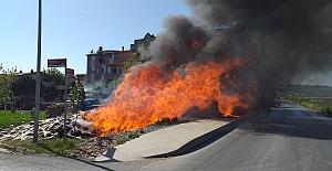 Silivri'de korkutan yangın