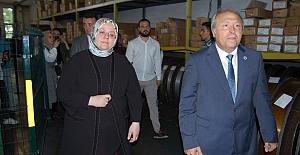 Aile, Çalışma ve Sosyal Hizmetler Bakanı Zehra Zümrüt Selçuk, Silivri'de.