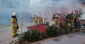 Silivri'de bina yangını