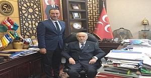 Başkan Yılmaz'dan MHP Lideri Devlet Bahçeli'ye geçmiş olsun ziyareti