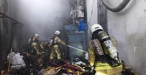 Sünger Fabrikasında Korkutan Yangın