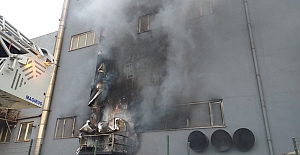 Silivri#039;de Fabrika Yangını