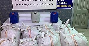 Kargo ile yapılan tütün kaçakçılığını Silivri Polisi Çökertti