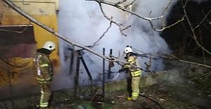 Silivri Yeni Mahalle'de baraka yangını