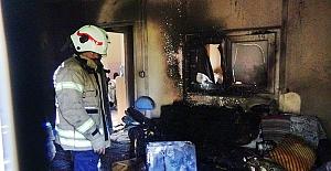 Yeni Mahalle'de Prefabrik Yangını