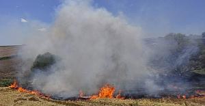 BÜYÜKKILIÇLI'da Buğday Tarlası Alevlere Teslim Oldu!