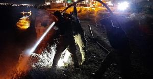 Silivri'de uçurumun kıyısından yangına müdahale