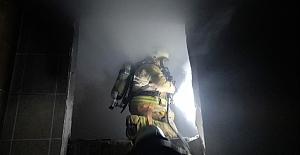 Silivri'de Metruk İş Yeri Yangını