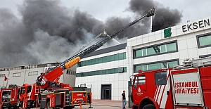 Silivri Ortaköy'de Fabrika Yangını