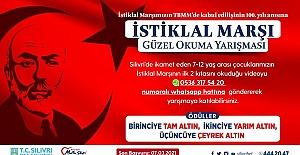 Silivri Belediyesi İstiklal Marşı Okuma Yarışması Düzenliyor