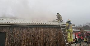 Silivri'de iş yeri yangını