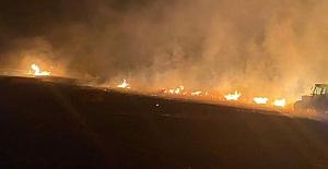 Silivri#039;de kırsal alanda yangın...