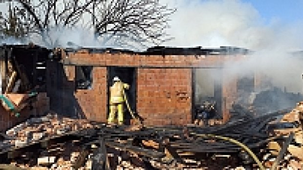 Silivri'de baraka yangını